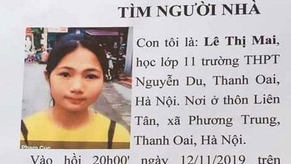 Nữ sinh lớp 11 mất tích khi đi học về